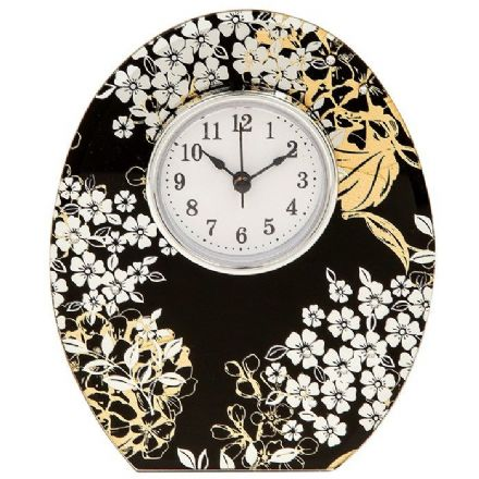 Ebony Gold Clock